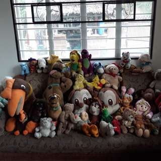 Winnie the pooh, Barney , Scooby doo , Mickey Mouse at other stuff toys