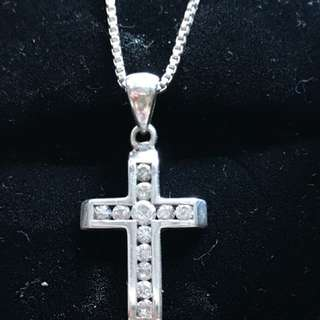 Sterling Silver CZ Cross Pendant doesn't include chain