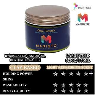 [BNIB] MANIGTO CLAY POMADE 150ML (DISCOUNT&FREE DELIVERY)