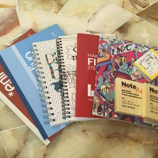 Post-it + Plain/Ring books with plain/lined papers