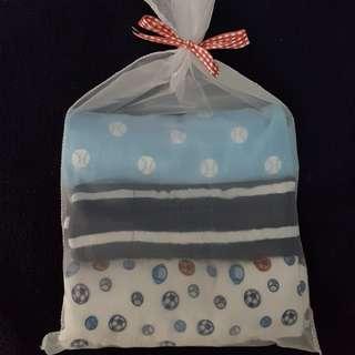Baby burp cloth or drool pad 3pcs