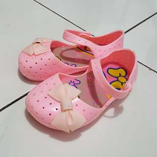 Pink ribbon jelly shoes* FREE ONG