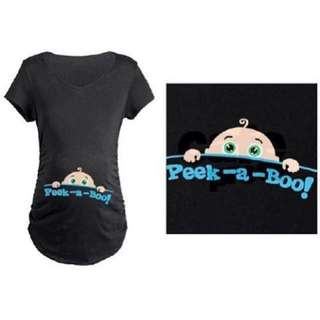 Maternity Shirt Peek A Boo