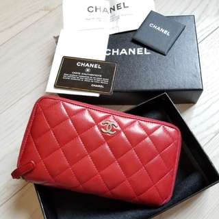 Chanel long wallet (80%new) (100%real)