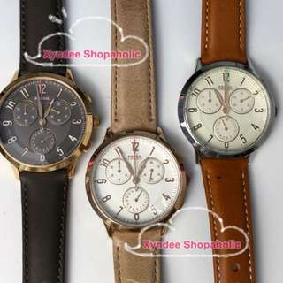 Fossil Abilene Chronograph Leather Watch