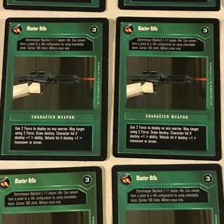Star Wars CCG Dark Side Common and Uncommon Cards - hundreds of them!