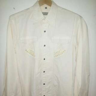 kemeja verde made in italy size L
