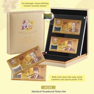 CIA 50 IDENTICAL NUMBERED NOTES SET