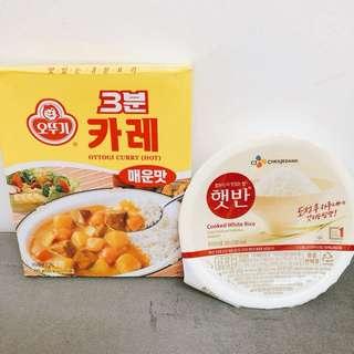 韓國 快食咖哩飯 套餐