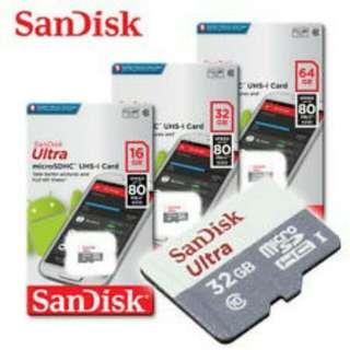 SanDisk 16GB ultra 80mbs