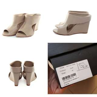 MDS Nude Slip On Wedges