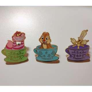 Trade 茶杯 Disney pins 迪士尼徽章 襟章
