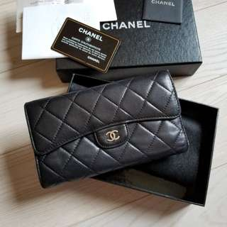 Chanel long wallet (70%new) (100%real)