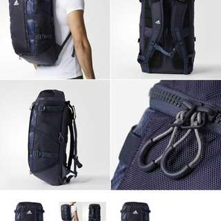 日本 adidas OPS CE1387 26L 深藍色 最後一個 背包背囊有鞋袋