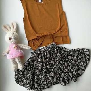 Top with flora dress
