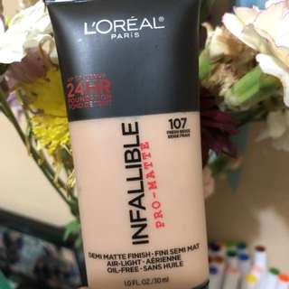 L'Oreal Infallible Pro Matte Foundation in 107