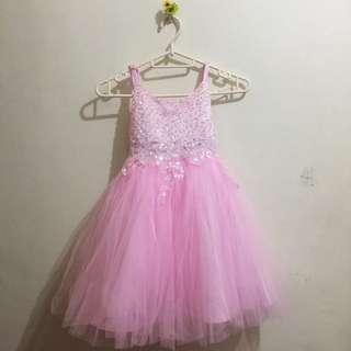 Cocktail Sequin Pink Dress