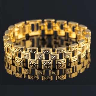 Men's 18K Classic Gold Plated Bracelet