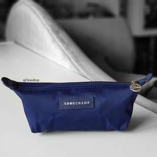 Authentic Longchamp Blue Le Pliage Zip Pouch