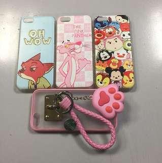 3 Brand New + 1 Preloved IPhone 5C case