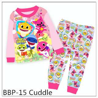 Baby Shark Girl Long sleeve Pajamas BBP15