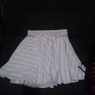 Flare Skirt Gray Uni Qlo