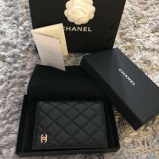 Authentic Chanel passport holder