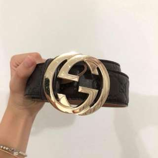 Gucci Signature Leather Belt