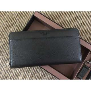 Coach Black Long Wallet