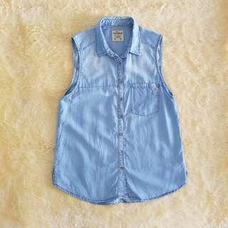 Pull&Bear Washed Soft Denim Top