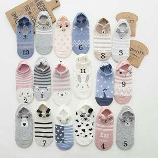 Cotton Boat Socks