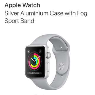 Apple Watch Series 3 Silver Aluminium Case with Fog Sport Band - 42mm