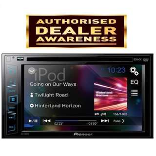 "Pioneer AVH-195DVD Double-DIN DVD Multimedia AV Receiver with 6.2"" WVGA Touchscreen Display, and Direct Control for iPod/iPhone"
