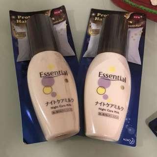 Essential night hair care milk