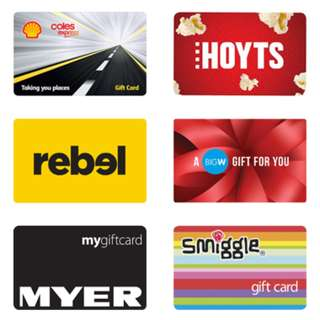 Which gift cards do you want to buy?