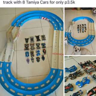 4.5ft x 7 ft Race Track with 8 tamiya cars