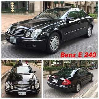 實車實價05年式E240僅跑10萬餘KM裡外如新