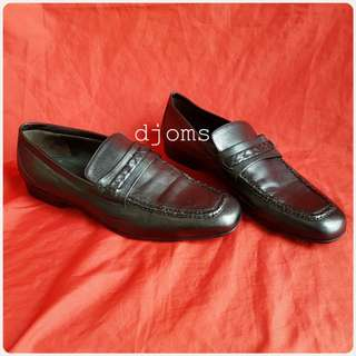 Sz 43 10 BOTTEGA VENETA mens casual formal black leather loafers shoes