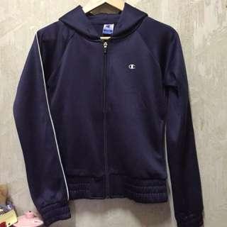 Champion滑面深藍色外套