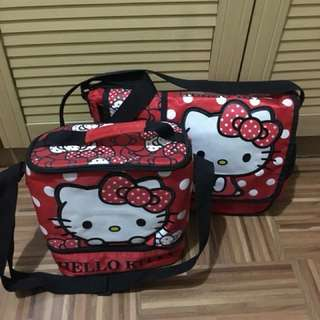 Hello Kitty Messenger Bag and Insulated Lunch Bag