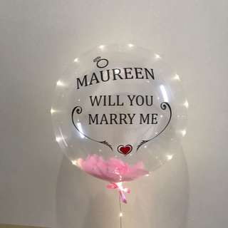 Valentine will you marry me balloon customization