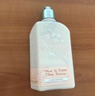 BRAND NEW L'occitane Cherry Blossom Shimmering Body Lotion