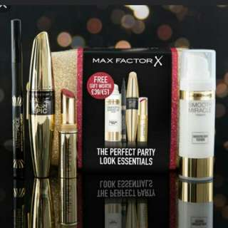 BRAND NEW & AUTHENTIC MAX FACTOR PARTY LOOK ESSENTIAL GIFT/MAKEUP SET