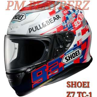 *PSB APPROVED SHOEI Z7 TC-1 POWER UP..!!