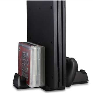 Dobe PS4 Pro Vertical Stand c/w Cooling fan & Charging Dock