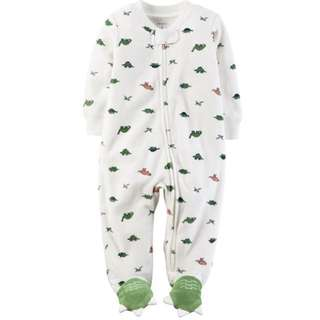 [PRICE REDUCED] Carter's Terry Dino Zip-up Sleep and Play (Brand New)