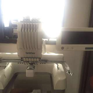 Brother embroidery machine-Six needles