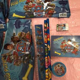 Instock new arrival paw patrol pencil case set brand new
