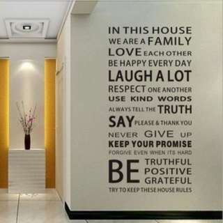 House stickers wall Decal Removable Art Vinyl Decor Home