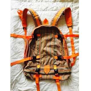 Crazy Room Orange Backpack